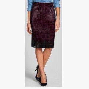 Halogen Prism Eyelet Cotton Pencil Skirt Size 6